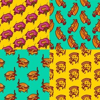 Impressão de padrões de fast food