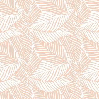 Impressão de selva abstrata. planta exótica. padrão tropical, folhas de palmeira de fundo floral vetor sem emenda.