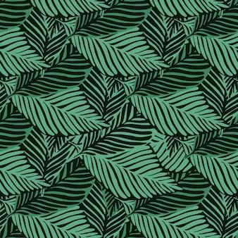 Impressão de selva de natureza de verão. padrão tropical, folhas de palmeira de fundo floral vetor sem emenda. cenário de plantas exóticas.