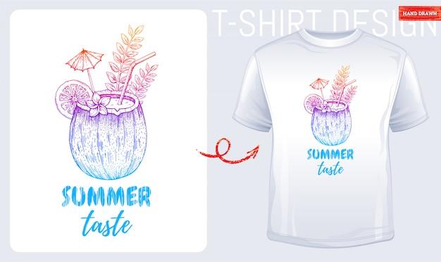 Impressão de t-shirt de verão