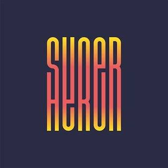Impressão de tipografia completa de super herói poder