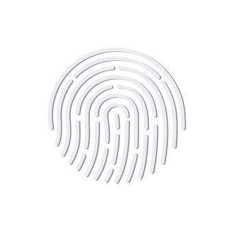 Impressão digital. ícone do aplicativo de identificação.