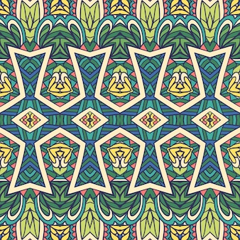 Impressão étnica geométrica abstrata decorativa sem costura padrão ornamental