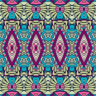 Impressão étnica geométrica vetor decorativo abstrato sem costura padrão ornamental