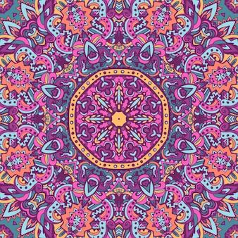 Impressão geométrica étnica. textura de fundo de repetição colorida.