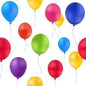 Impressão padrão de balões coloridos