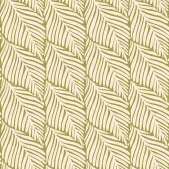Impressão perfeita de selva de ouro abstrata. planta exótica. padrão tropical, folhas de palmeira de fundo floral vetor sem emenda.