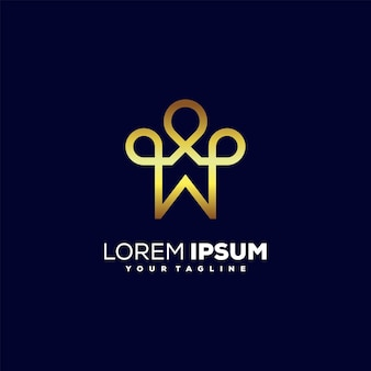 Impressionante design de logotipo de luxo para casa