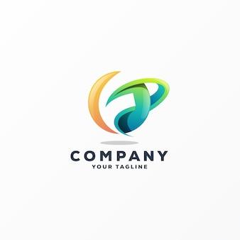 Impressionante f logo design vector