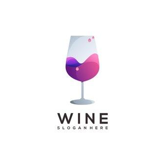 Impressionante gradiente colorido do logotipo do vinho