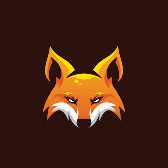 Impressionante ilustração de raposa de cabeça