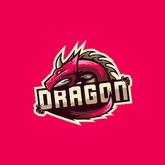 Impressionante ilustração do logotipo de dragão