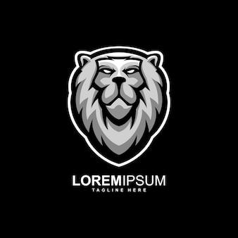 Impressionante leão logotipo design ilustração