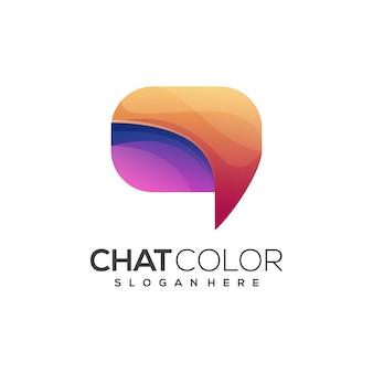 Impressionante logo chat gradiente colorido