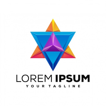 Impressionante logotipo colorido estrela