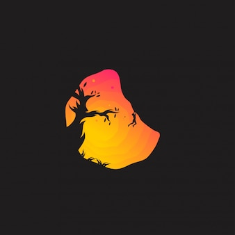 Impressionante logotipo de escalada