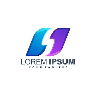 Impressionante logotipo em cores de mídia