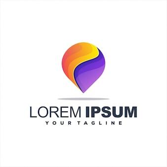 Impressionante logotipo gradiente pin