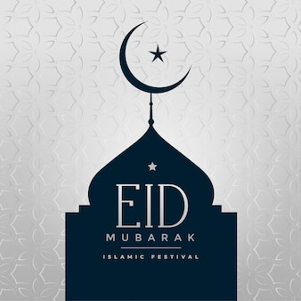 Impressionante mesquita eid mubarak e lua crescente
