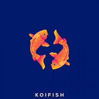 Impressionante peixe dourado logo premium