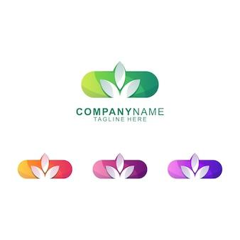 Impressionante vetor de logotipo bio médico premium