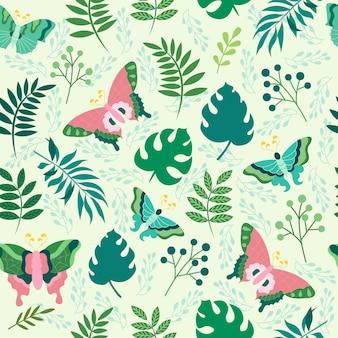 Imprimir borboleta sem costura padrão vector design ilustração