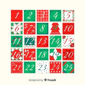 Imprimir quadrados calendário do advento