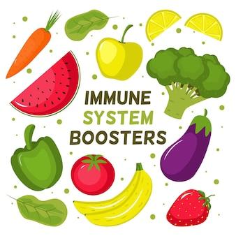 Impulsionadores do sistema imunológico com vegetais