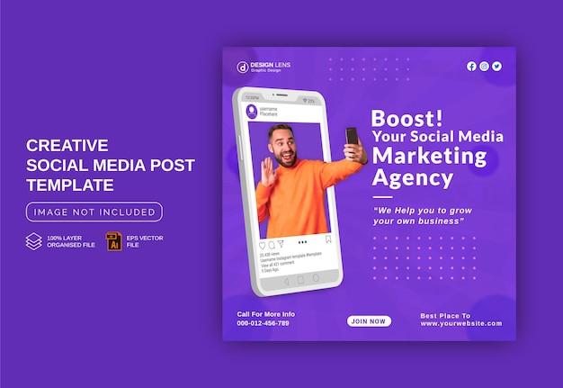 Impulsione seus negócios com nossos especialistas em negócios modelo de postagem de anúncio em banner para instagram em mídias sociais