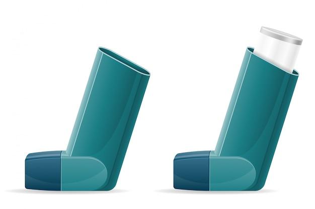 Inalador médico para pacientes com asma e falta de ar no tratamento e prevenção da doença