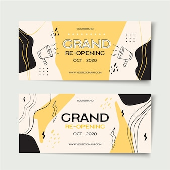 Inauguração do modelo de banner
