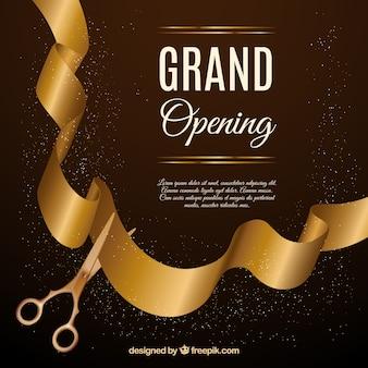 Inauguração elegante com estilo dourado