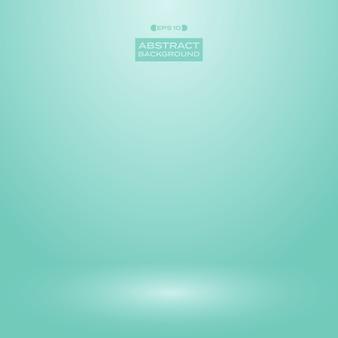 Inclinação do estúdio do fundo da cor da hortelã do verde de turquesa do borrão.