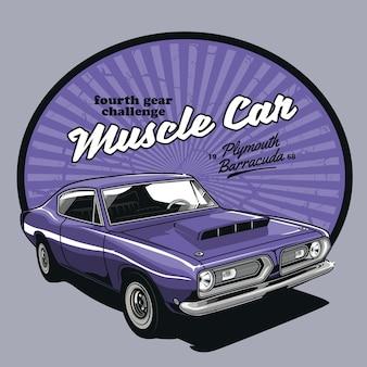 Incrível carro vintage muscular