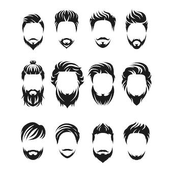 Incrível conjunto homem barba e cabelo
