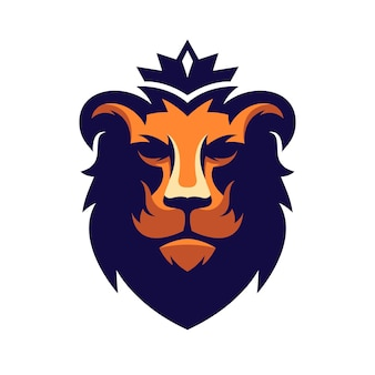 Incrível design de logotipo de leão