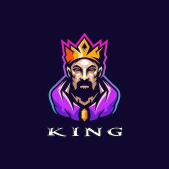 Incrível design de logotipo do rei