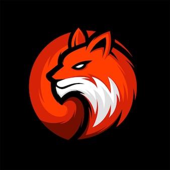 Incrível fox head logo mascot ilustração vetorial