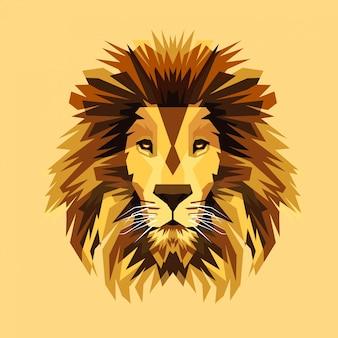 Incrível ilustração vetorial de leão