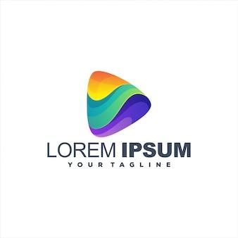 Incrível jogo gradiente logotipo