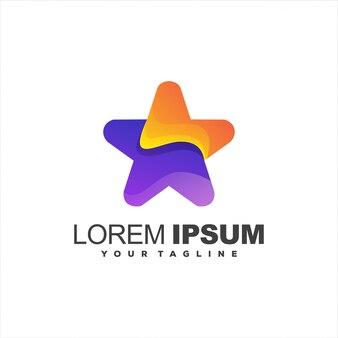Incrível logotipo gradiente estrela