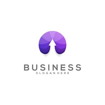 Incrível logotipo gradiente