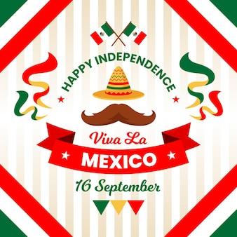 Independencia de méxico com chapéu e bigode
