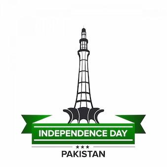 Independência do paquistão com minar e paquistão