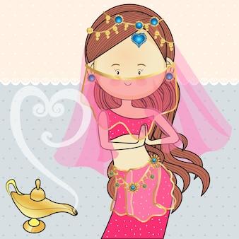Índia egito trajes de dança com lâmpadas mágicas