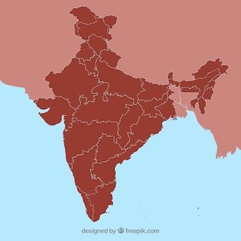 Índia estado contorno do mapa