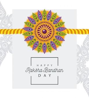 Índia raksha bandhan decoração floral