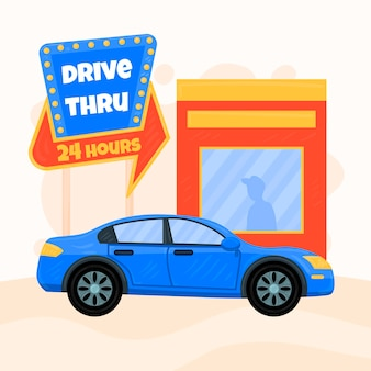Indicador de drive thru