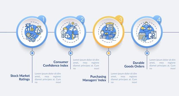 Índice de compras de modelo de infográfico de gerentes