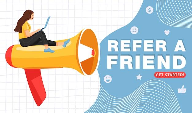 Indique um amigo ou marketing de referência